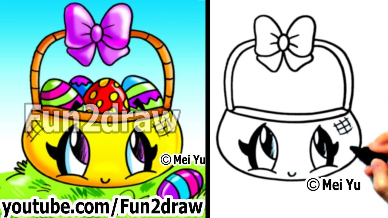easy things to draw how to draw kawaii stuff easter eggs in