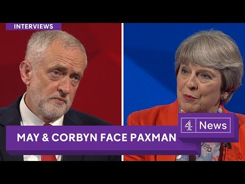 Jeremy Paxman interviews Jeremy Corbyn and Theresa May
