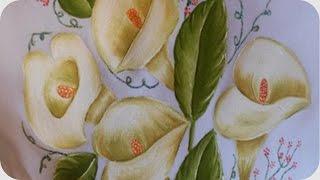 #1 Hojas verde olivo y pistache | Pintura textil