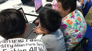น้องตินตินกับน้องแตมมี่นำเสนอเกมที่ออกแบบและเขียนโค้ดเอง