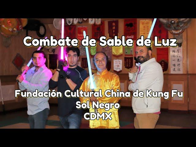 Combates de Sables de Luz en Fundación Cultural China de Kung Fu CDMX