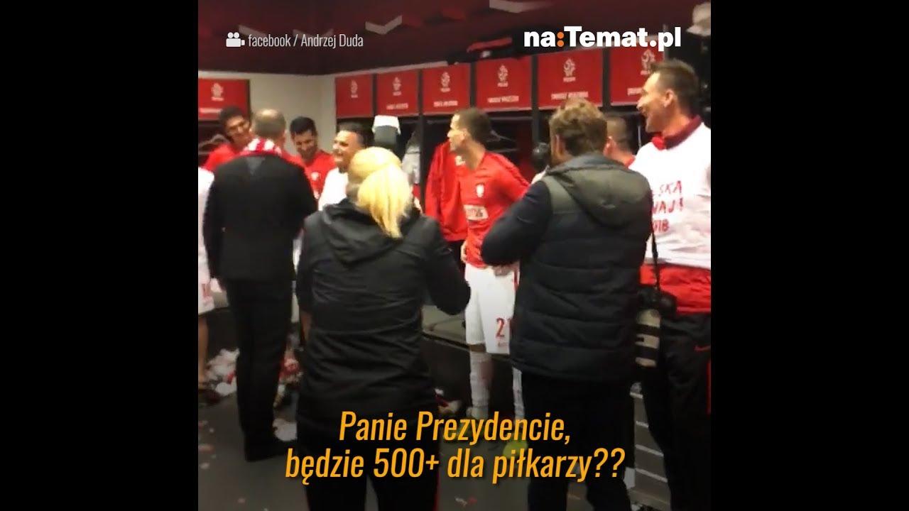Piłkarze przyśmieszkowali w szatni z Andrzeja Dudy