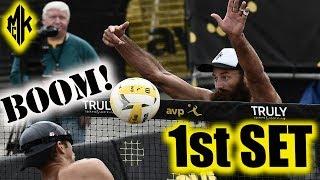 McKibbin/McKibbin vs. Patterson/Slick 1st Set   AVP Seattle 2018