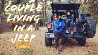 COUPLE LIVING IN A JEEP FULL-TIME | The Ultimate Living Setup - Walkthrough