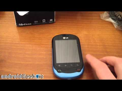 Unboxing LG Optimus Chat by androidgeek.it