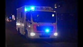 [Dauerhorn durch Gegenverkehr] S-RTW Feuerwehr Hamburg