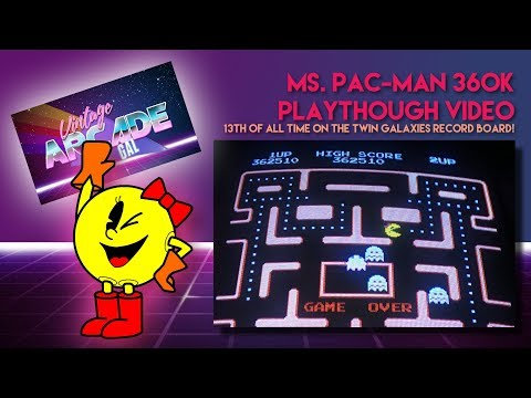 Ms.Pac-Man Record Attempt, 362K On Arcade Hardware