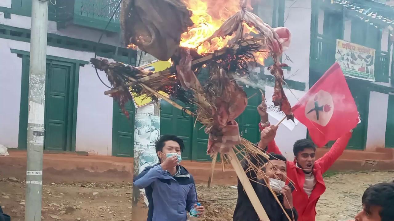Kp Oli & Padhama Aryal Putla Dahan By Nepal student from Khotang - YouTube