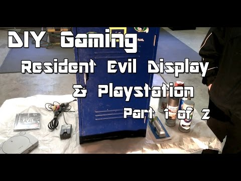 "DIY Gaming ""Custom Resident Evil Display and PlayStation"" Part 1 of 2"