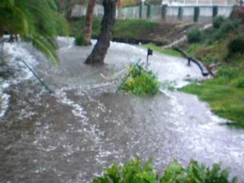 flash flood in my back yard 1 19 2010 youtube