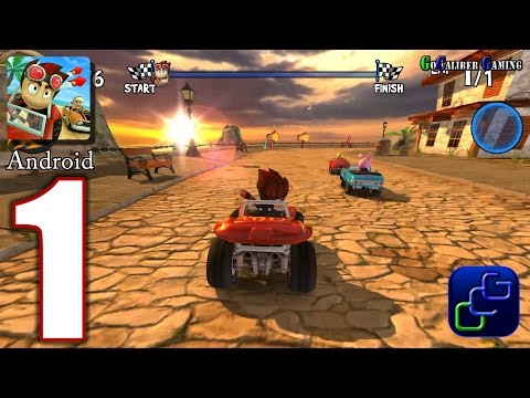 Beach Buggy Racing Android Walkthrough - Gameplay Part 1 - Easy Street 1-4 HIGH Graphics