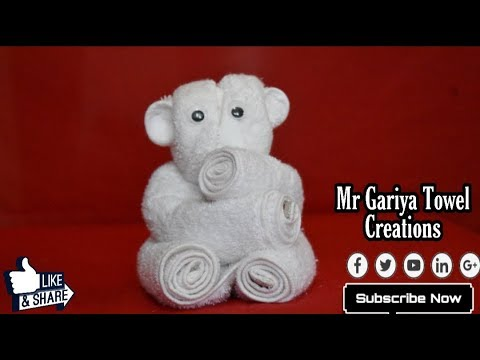 how to make - Kola,Teddy Bear | towel art | Origami | Towel Folding | Tutorial thumbnail