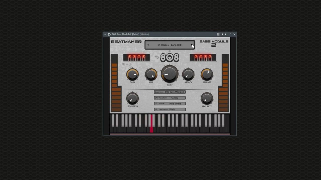Download Free Bass drum rompler plug-in: 808 Bass Module 2 Lite by
