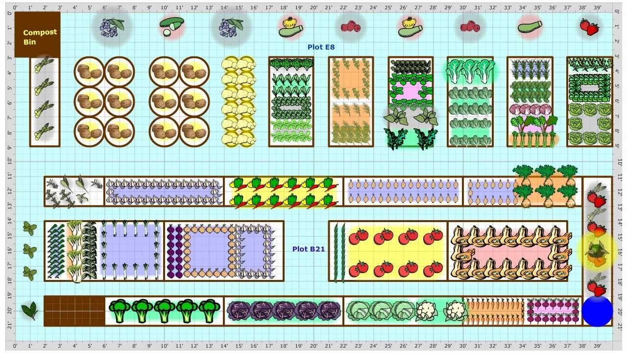 Garden Plans Gallery - find vegetable garden plans from gardeners ...
