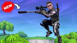 Getting a VICTORY ROYALE With The *NEW* Silenced SNIPER!