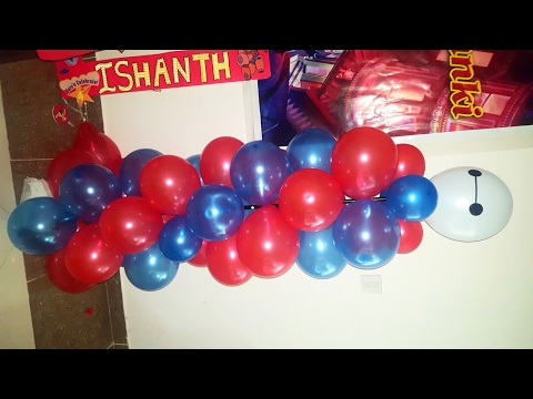 Big Hero 6 Birthday Party Decor / Balloon Column/ Balloon Pillars DIY