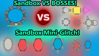 Diep.io NEW Sandbox Godmode Arena Closers Hacks VS Bosses! Sandbox New Glitches & Bugged Tanks!