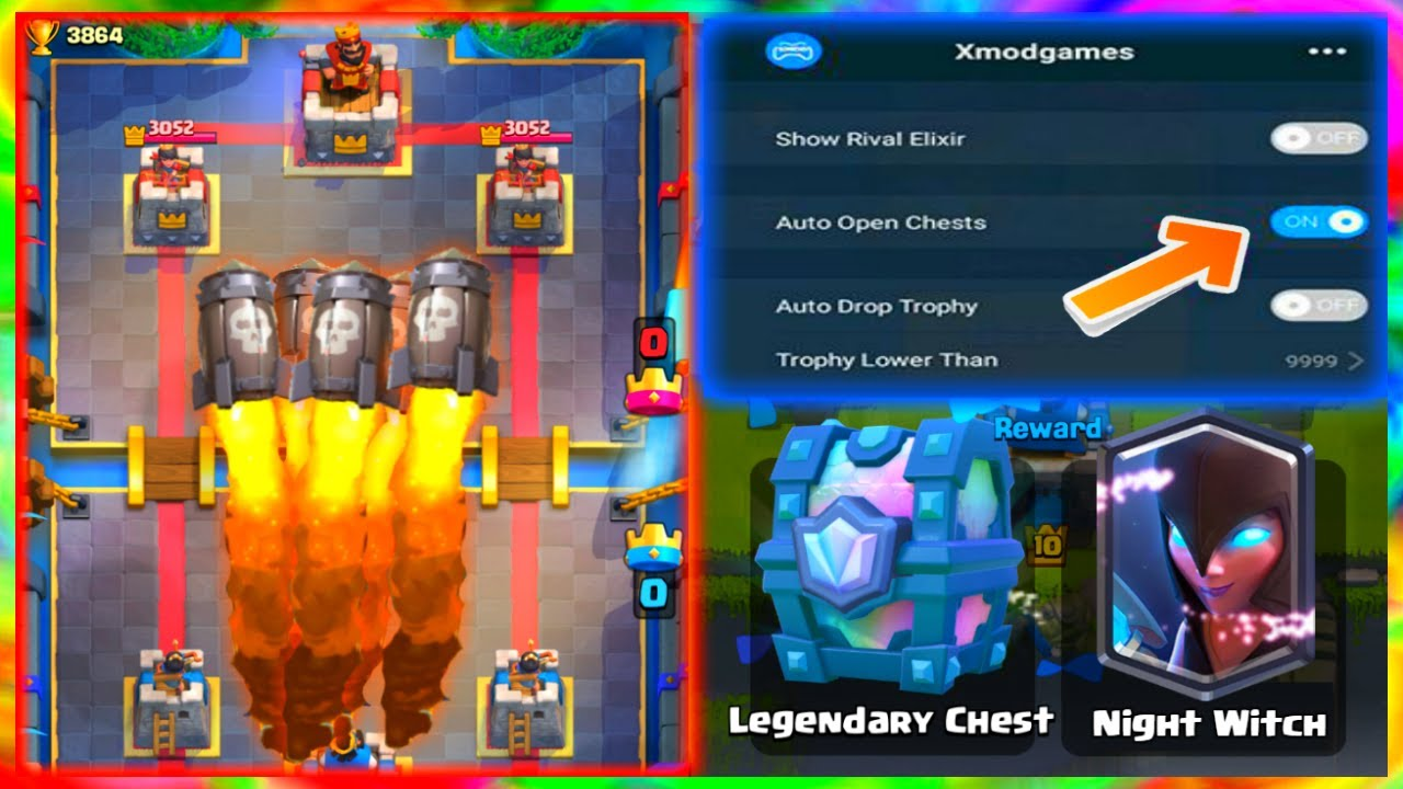 8 Cheats & Hacks & Glitches in Clash Royale | Rapid Fire Sparky | MOD MENU  clash royale -