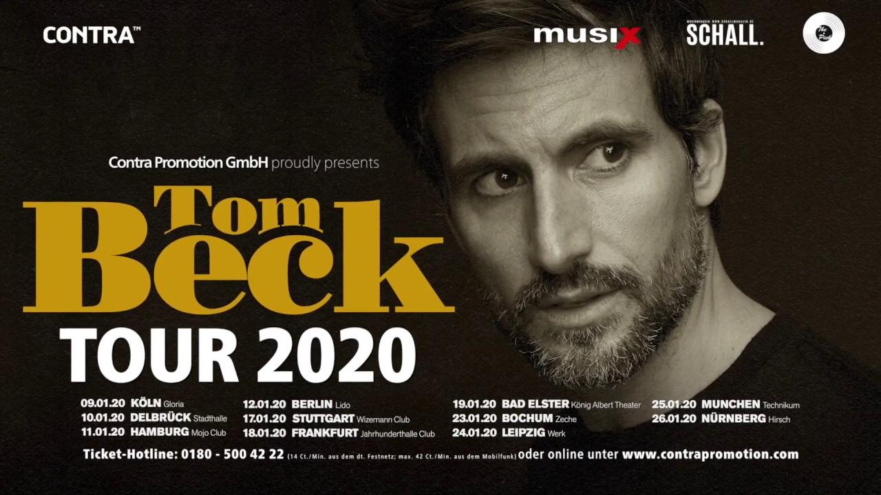 New Beck Album 2020 Tom Beck   Tour 2020 (Trailer)   YouTube