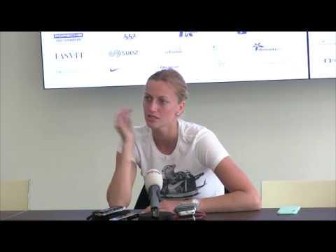 Petra Kvitová po vítězství ve čtvrtfinále J&T Banka Prague Open