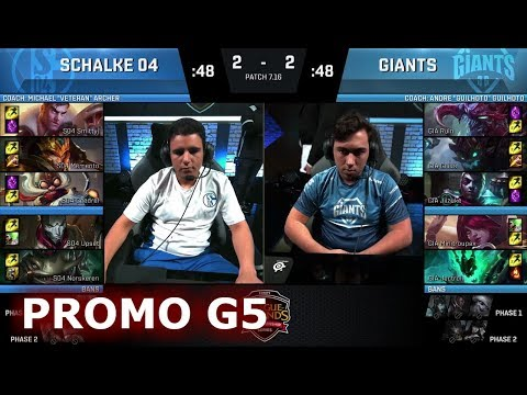FC Schalke 04 vs Giants | Game 5 Round 2 Promotion/Relegation S8 EU LCS Spring 2017 | S04 vs GIA G5