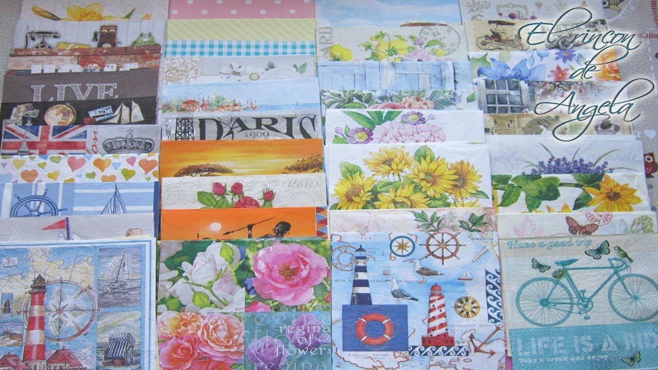 Decoupage servilletas decoradas para trabajos de agosto for Decoupage con servilletas en muebles
