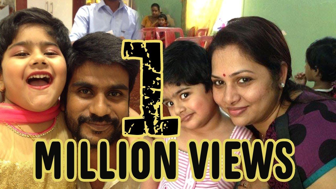 Zee Tamil Thalayanai Pookal Shree Kumar Family Photo