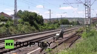 Germany: Police lockdown scene of train axe attack