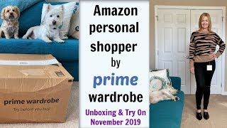 Amazon Personal Shopper by Prime Wardrobe - November 2019:  Unboxing & Try On...Fall stylist picks!