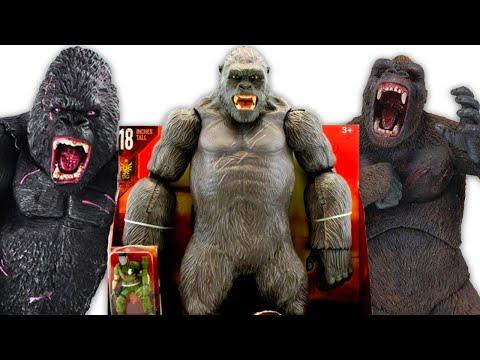 New King Kong Vs Godzilla Skull Island Toys Video Compilation Jurassic World Unboxing