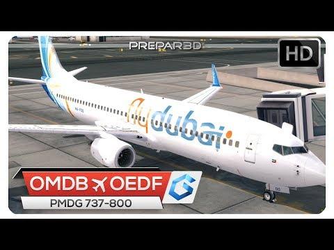 [P3Dv4] 737 ZONE TEMP FAIL LIGHT! | OMDB - OEDF | FDB865