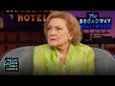 VIDEO: Betty White Shows Off Her Best Poker Face on LATE LATE SHOW