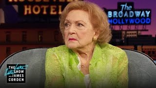 Betty White Shows Off Her Poker Face