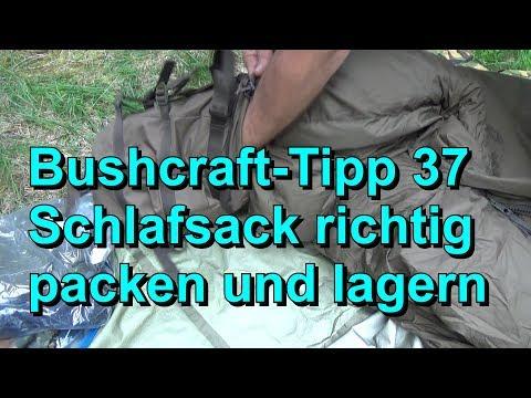 Bushcraft Tipp 37   Schlafsack richtig einpacken und lagern