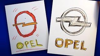 Как нарисовать Логотип OPEL / мини урок рисования