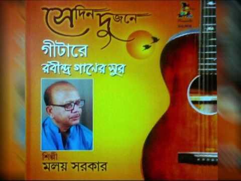 Amar Sakal Dukher rabindrasangeet instrumental album sedin dujone by malay sarkar