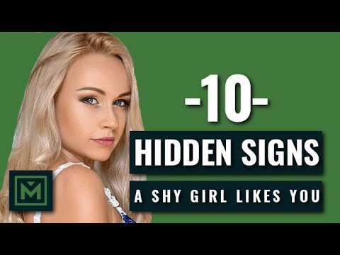 How to Tell if a SHY GIRL Likes You - 10 HIDDEN, but Obvious Signs She WANTS You
