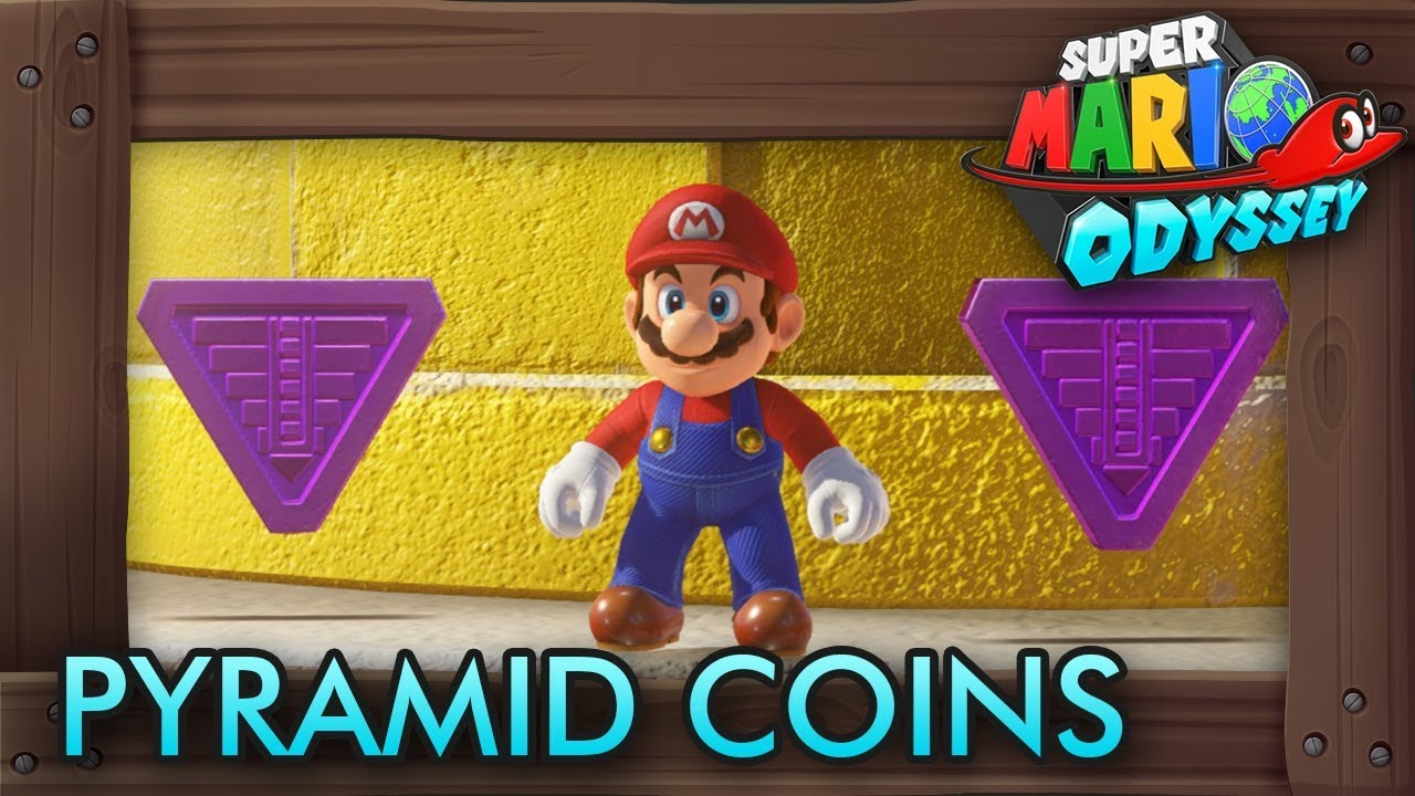 Super Mario Odyssey All Purple Pyramid Coins Sand Kingdom