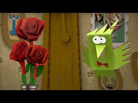 Мультфильм бумажки роза