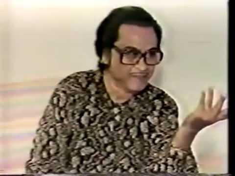 Kishore Kumar singing without music - Aa Chal Ke Tujhe