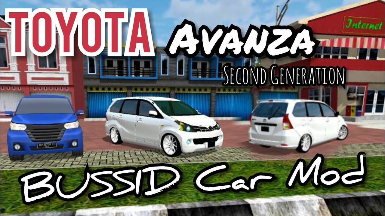 Toyota Avanza Bussid Mod Youtube