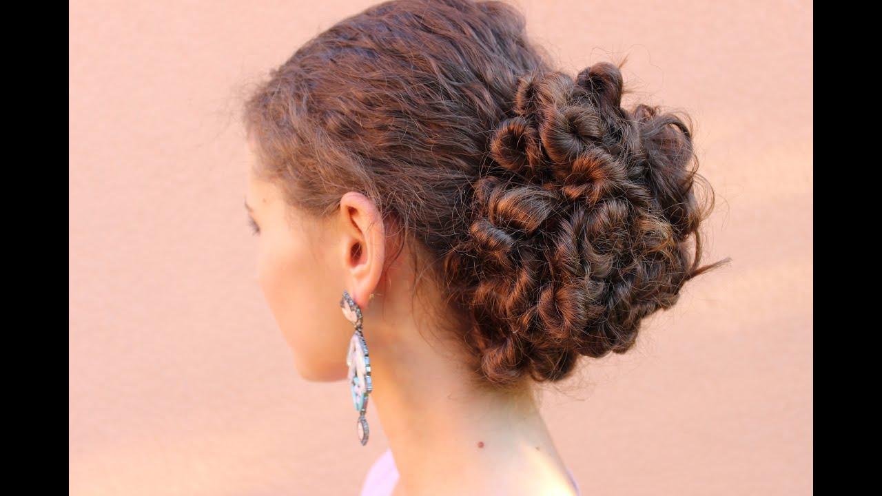 Elegns Frizura Gndr Hajbl I Elegant Curly Hairstyle