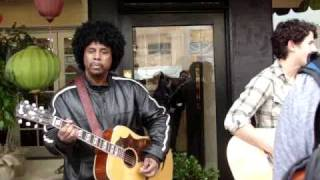 nick jonas and sonny thompson rose garden (acustic) at marks flower shop sherman oaks