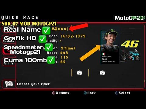 Download Motogp 2021 Android😱Grafik hd,fix name rider | Sbk 07 Mod Motogp21 ppsspp