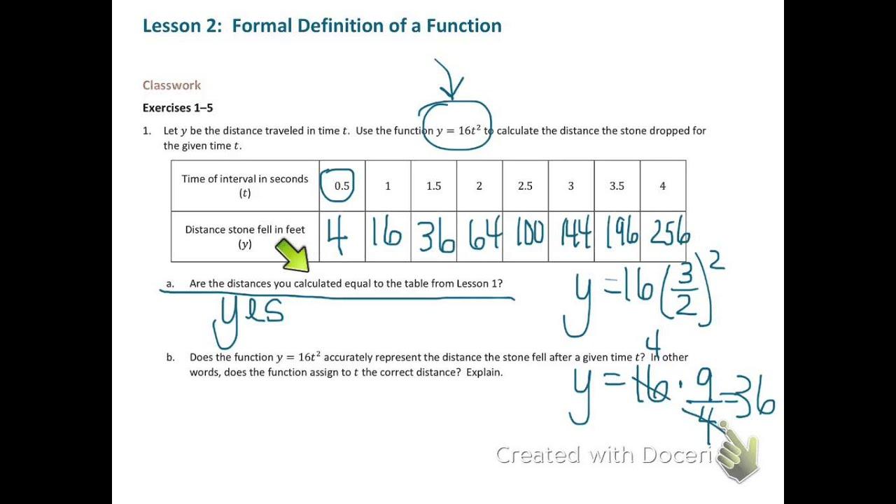 Grade 8 Math Module 5 Lesson 2 - YouTube
