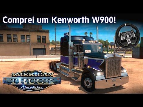 ESTREIA do meu Kenworth W900! \o/ Pé na tábua! | American Truck Simulator + G920 [PT-BR]
