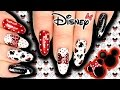 DISNEY MICKEY & MINNIE MOUSE NAIL ART! MICKEY NAILS, DOTS / BOWS / GLITTER ❤️