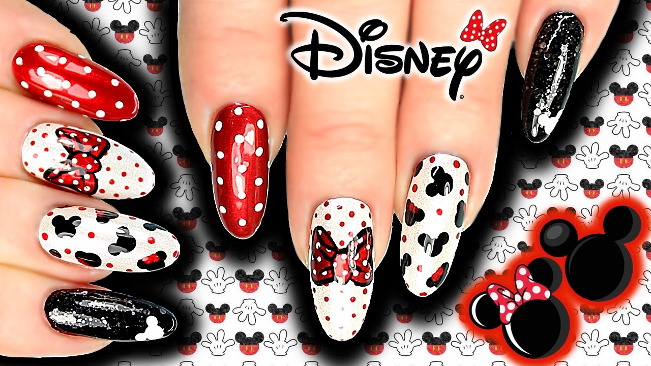 disney mickey & minnie mouse nail