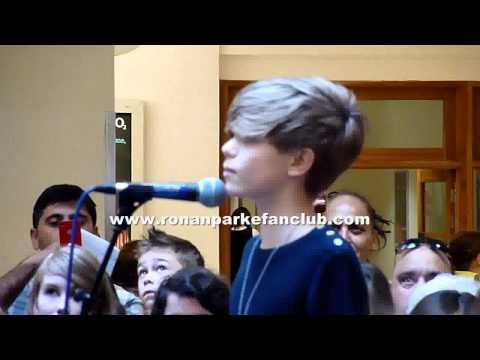 Ronan Parke Singing at Chimes Shopping Centre, Uxbridge 14 August 2011