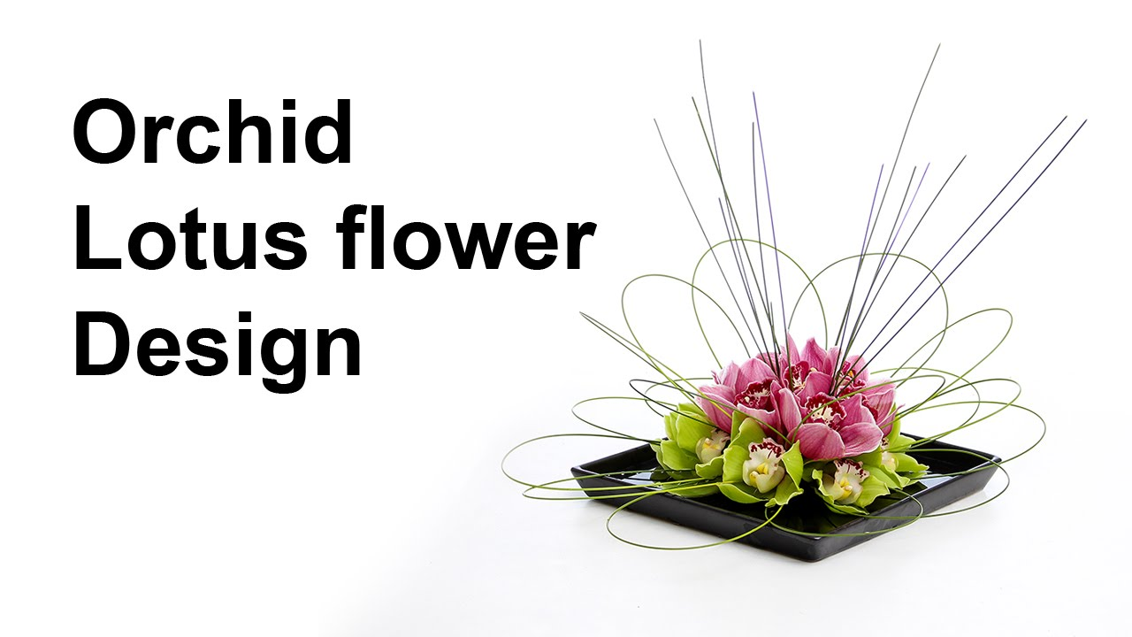 Orchid lotus flower arrangement - ideal for a coffee / dinner table ...